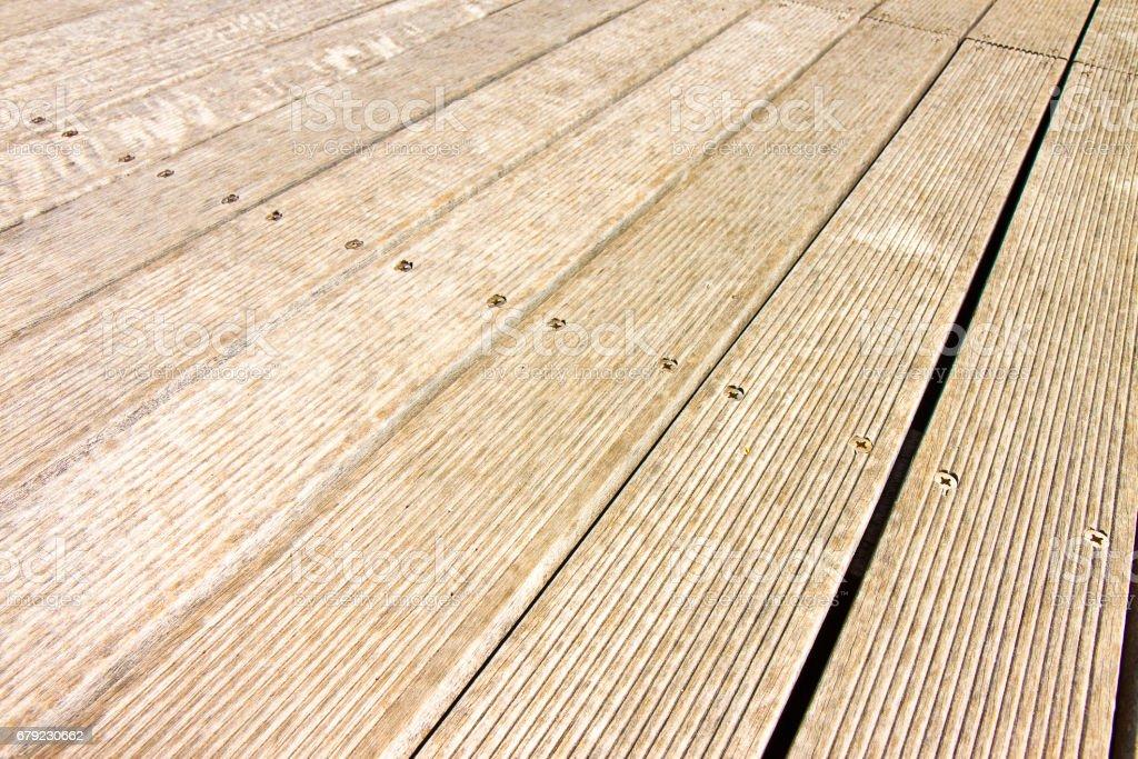 Floor wooden slats for outdoor use foto de stock royalty-free