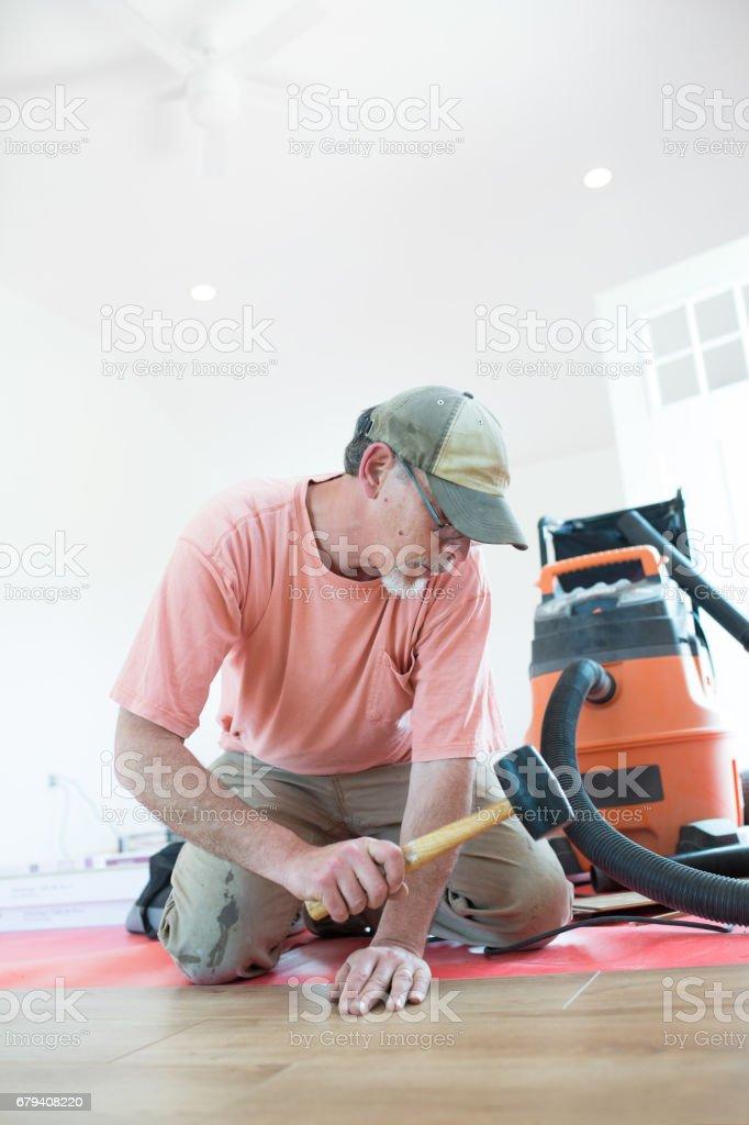 DIY Flooring Installation stock photo