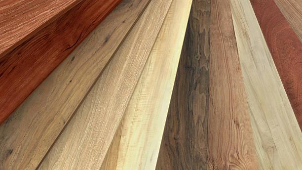 flooring laminate or parquet samples - houtbeits stockfoto's en -beelden