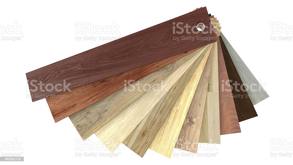 Flooring laminate or parquet samples stock photo