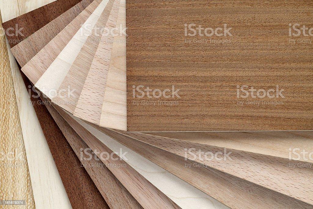 Flooring laminate samples stock photo