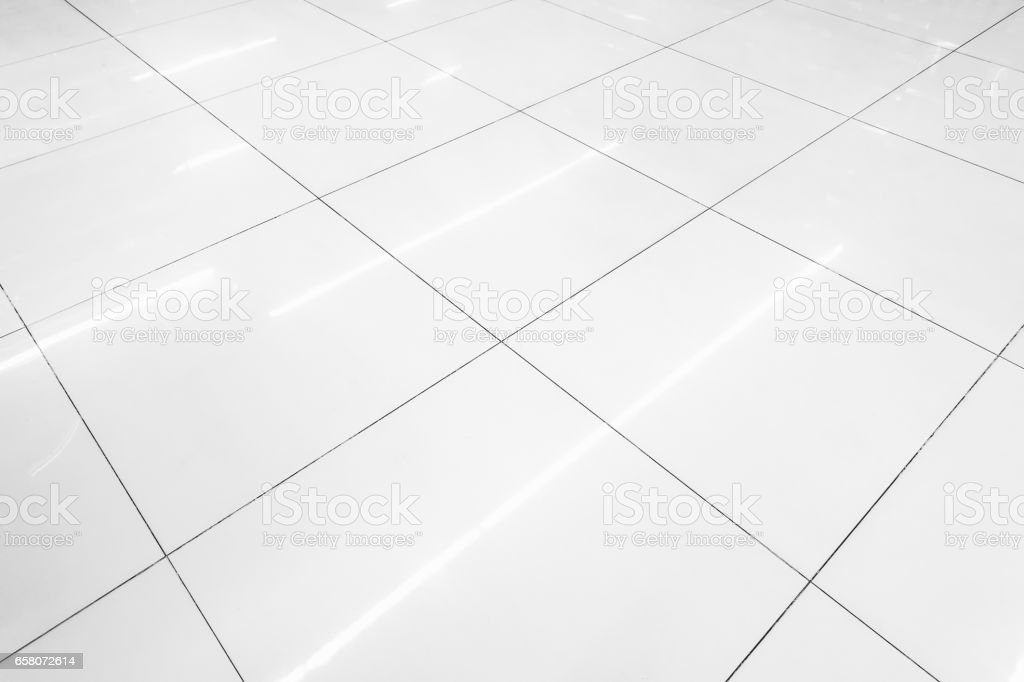 Flooring tile background and reflection of luminaire. stock photo