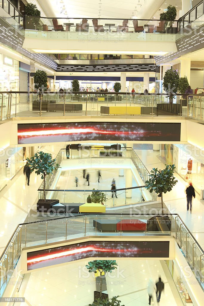 floors in mall with people royalty-free stock photo
