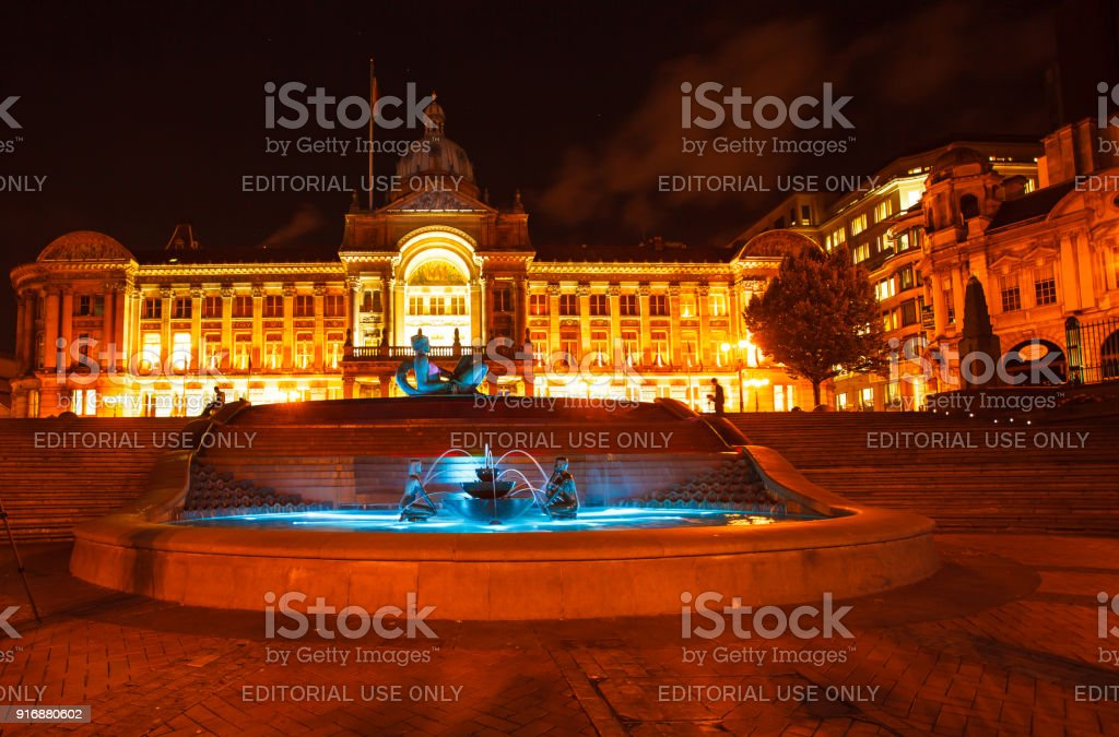 Floozie in the Jacuzzi River statue in front of Birmingham Coucil House  Victoria Square stock photo