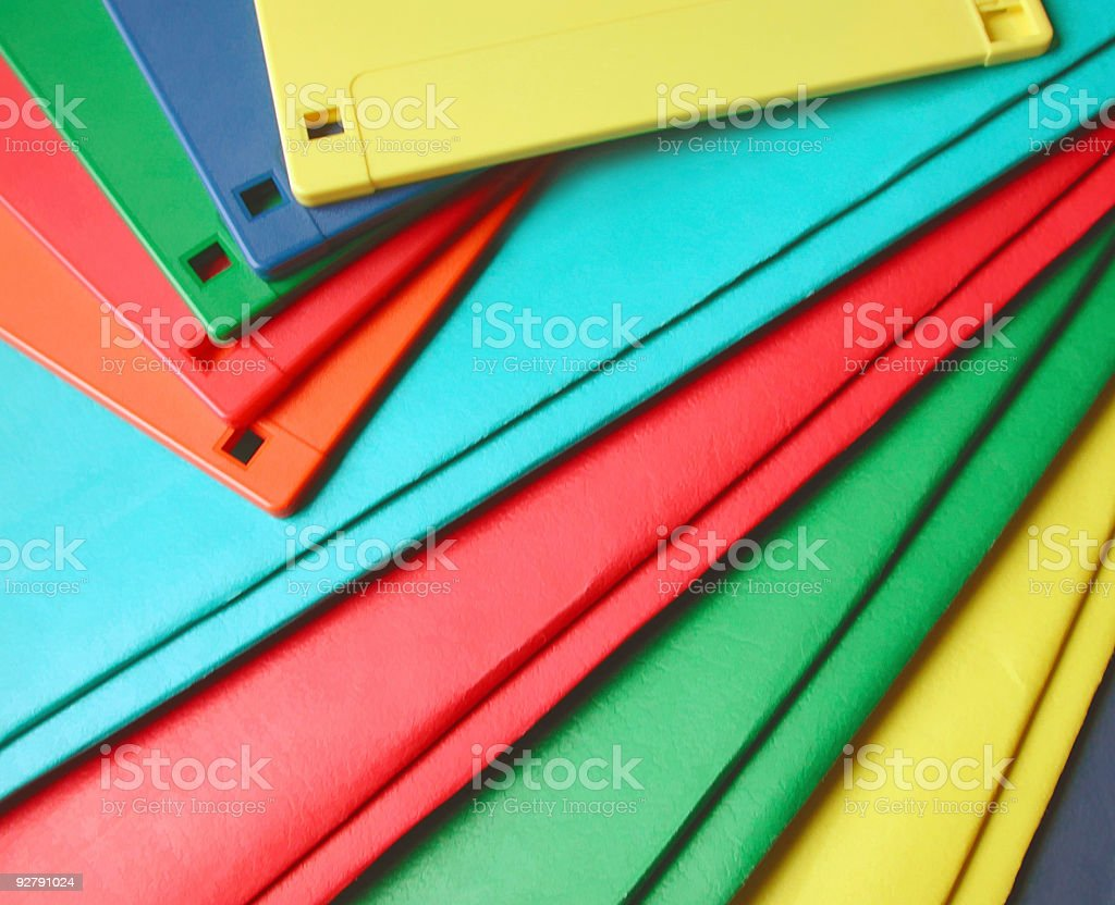 floppy discs and note folders royalty-free stock photo