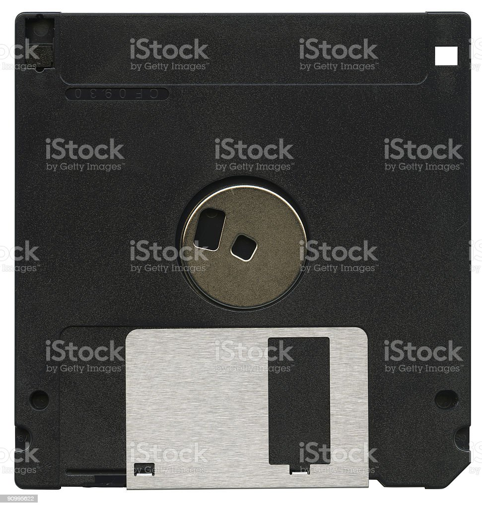 Floppy disk, isolated on white background royalty-free stock photo