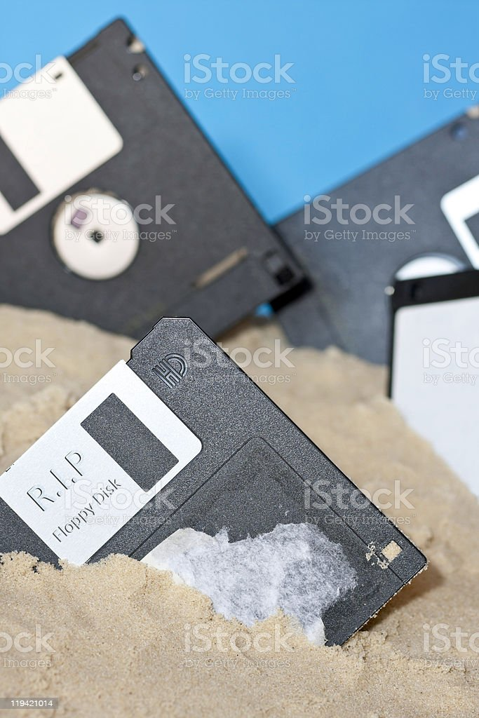 RIP Floppy stock photo