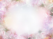 istock Floral abstract pastel background with copy space. 1124306553