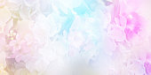 istock Floral abstract pastel background with copy space. 1125806214
