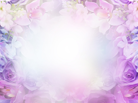 Floral abstract pastel background with copy space.