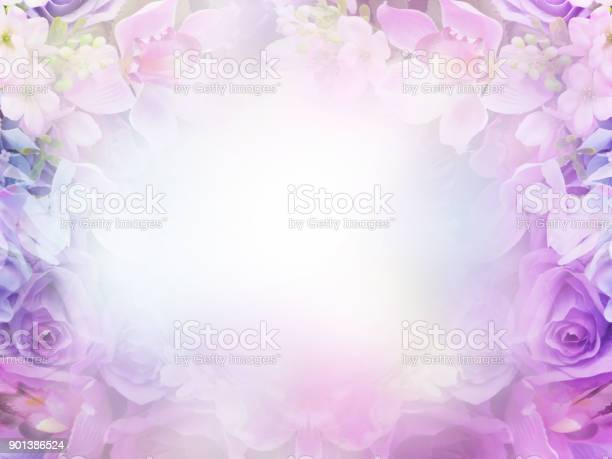 Photo of Floral abstract pastel background with copy space.