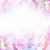 istock Floral abstract pastel background with copy space. 901386572