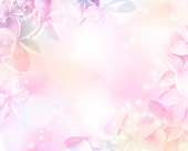 istock Floral abstract pastel background with copy space. 903158432