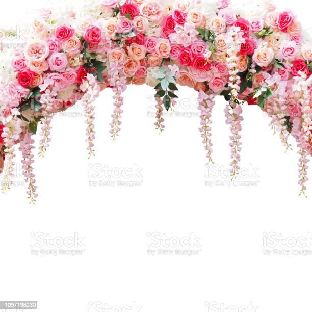 Floral arbor for wedding decoration isolated on white picture id1097198230?b=1&k=6&m=1097198230&s=612x612&h=tqbobhueekluyqniqemenn4nagpzig ee ai5bjmrwe=