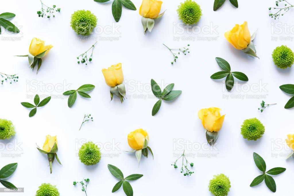Floral Arrangment On White Background stock photo