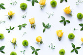 Floral Arrangment On White Background