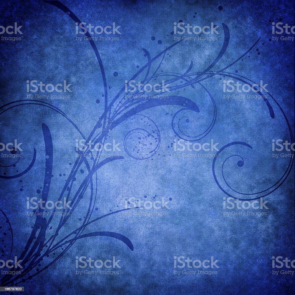 Floral Background In Blue royalty-free stock photo
