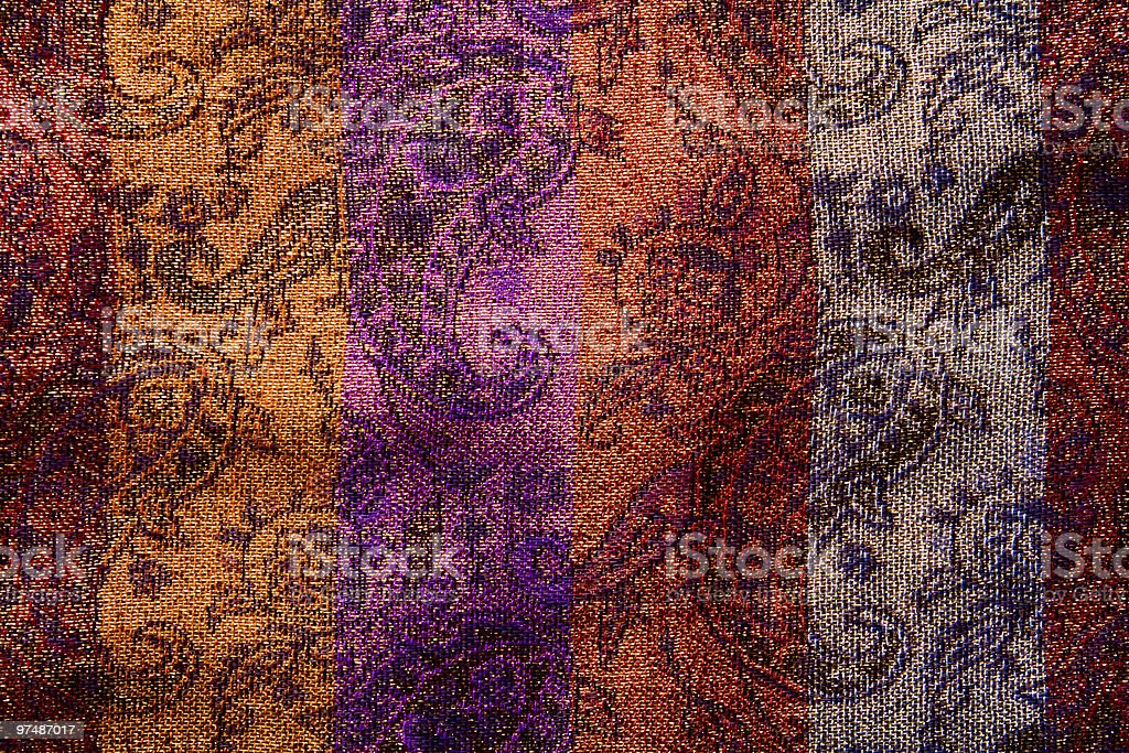 Floral background of natural colorful fabric royalty-free stock photo