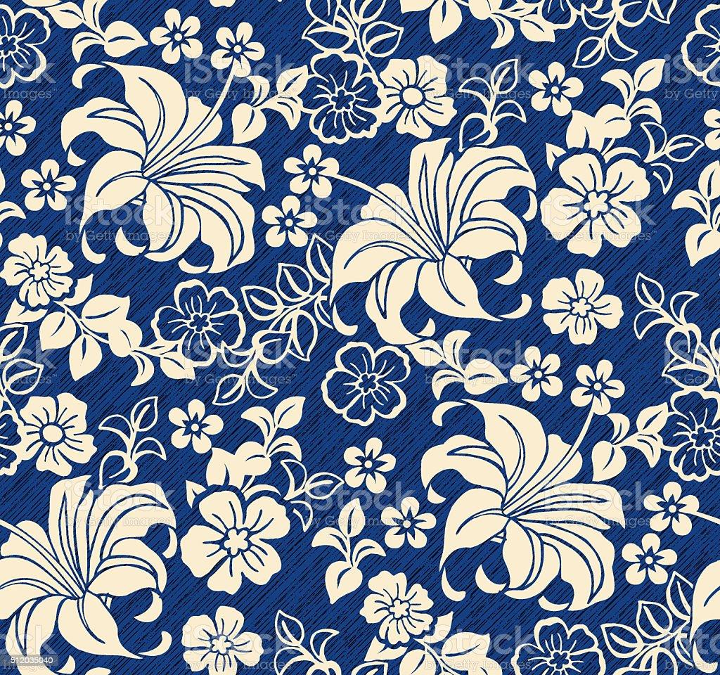 floral beauty pattern stock photo