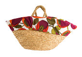 Floral cover basket tote