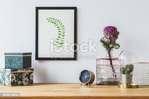 istock Floral decorations on white background 948979634