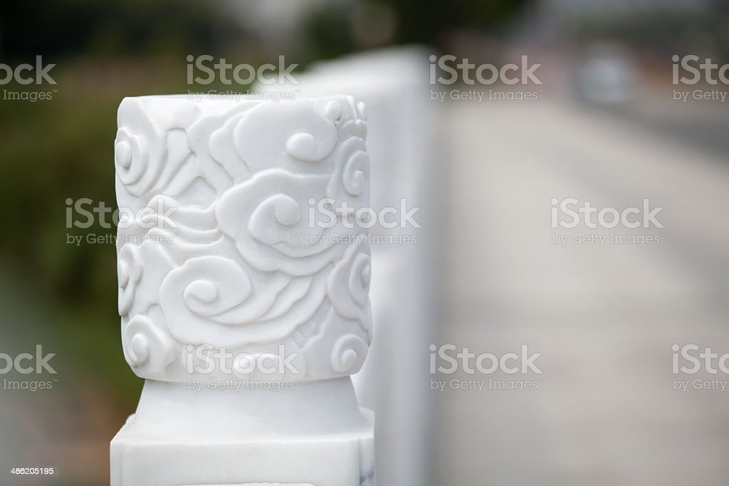 Floral Design on Marble stock photo