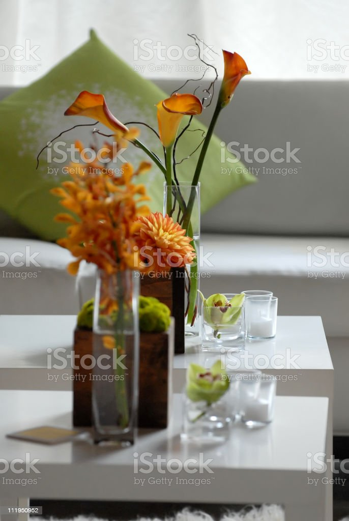 Floral Display in Hotel Lobby royalty-free stock photo
