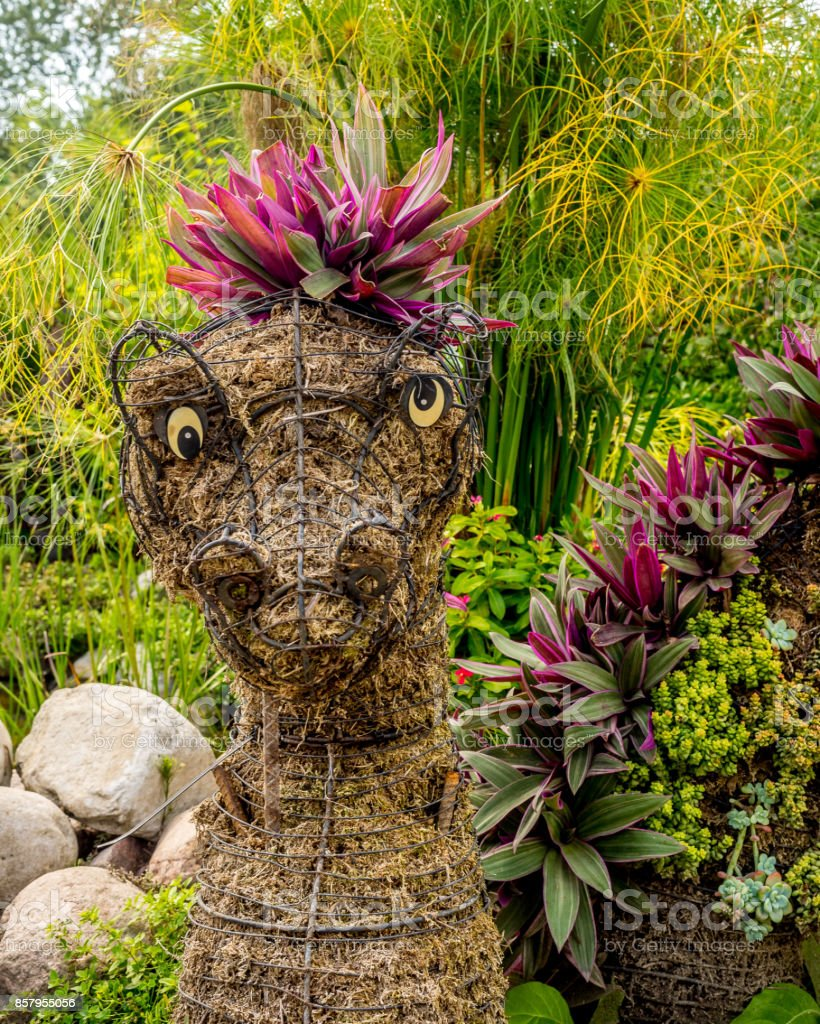 Floral dragon display stock photo
