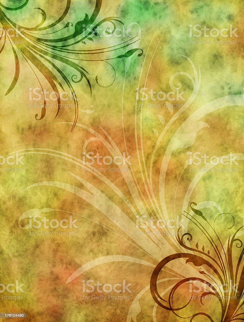 Floral Grunge Background royalty-free stock photo