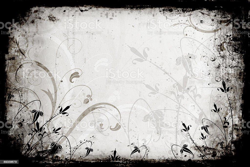 Floral grunge royalty free stockfoto