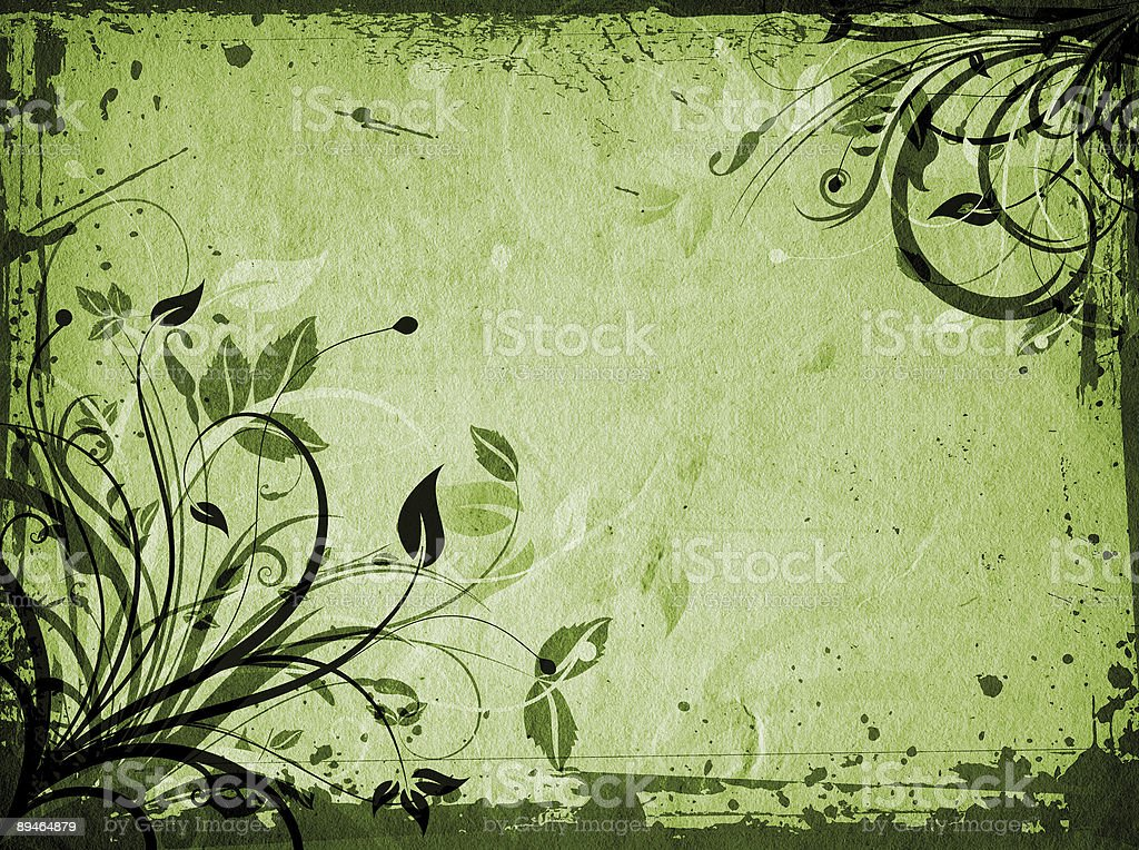Floral grunge royalty-free stock photo