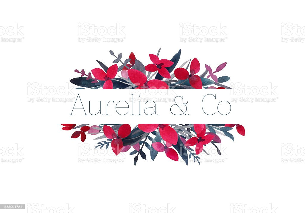 Floral logo. stock photo
