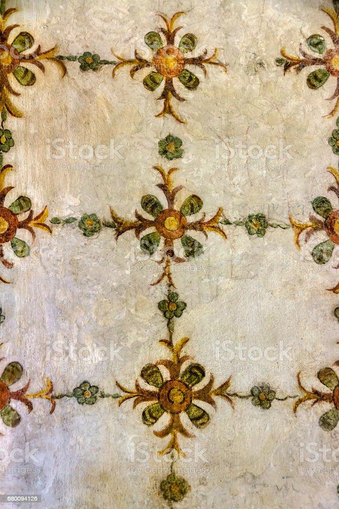 Floral motifs in an antique fresco - foto stock