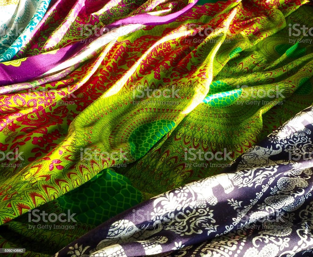 Floral pattern fabric : Bo ho style royalty-free stock photo