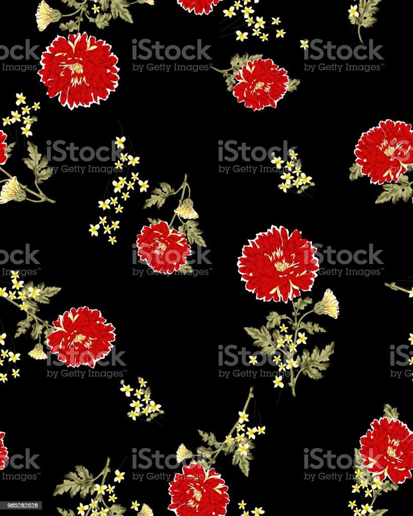 floral pattern zbiór zdjęć royalty-free