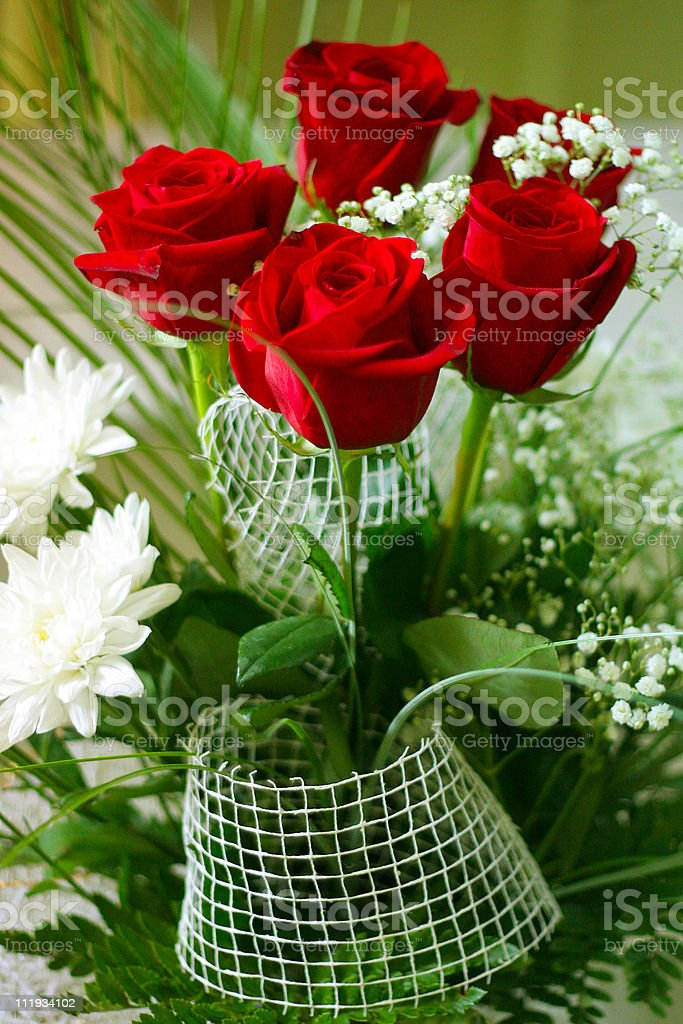 floral postcard royalty-free stock photo