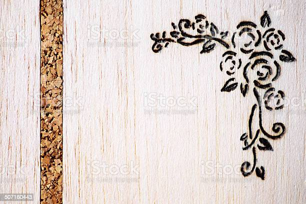 Photo of Floral pyrography