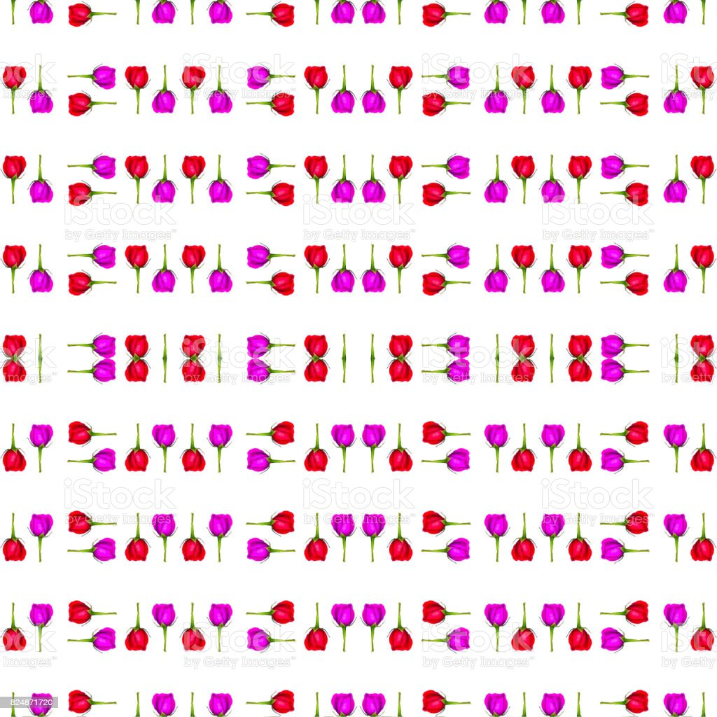 Floral Stripes Collage Pattern stock photo