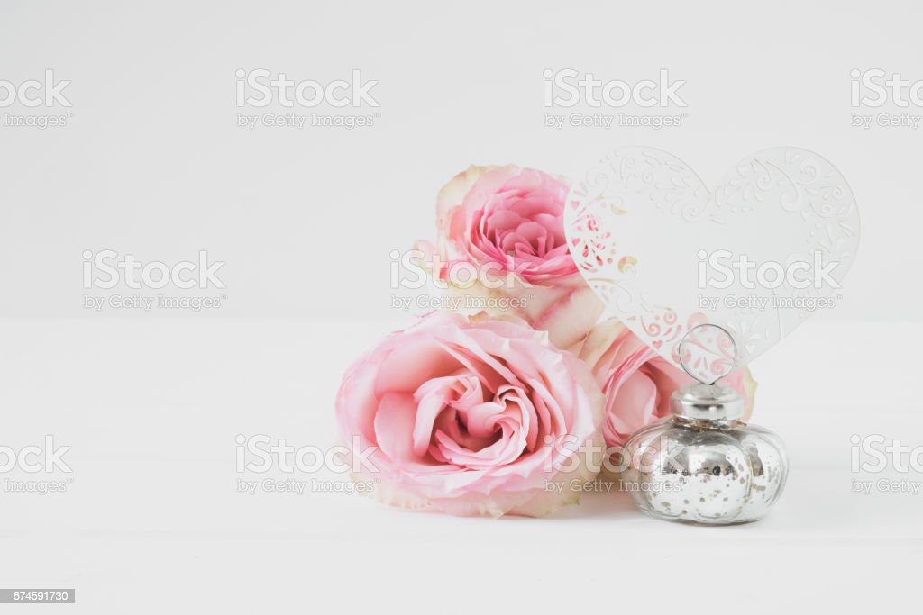 Floral styled mock up photograph stock photo