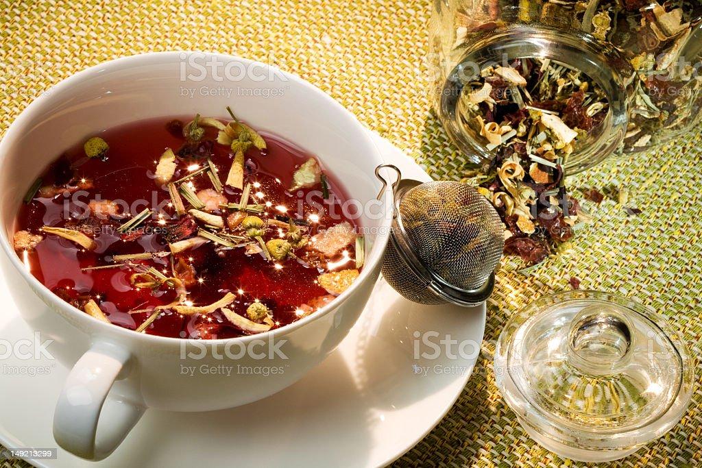 floral tea royalty-free stock photo