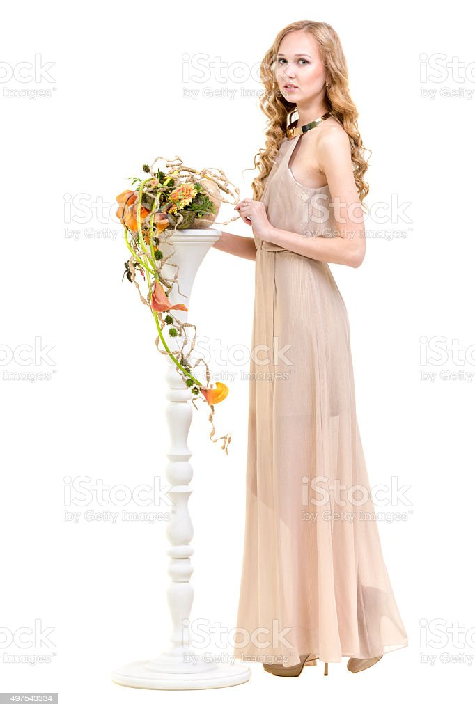 Floral Venus stock photo