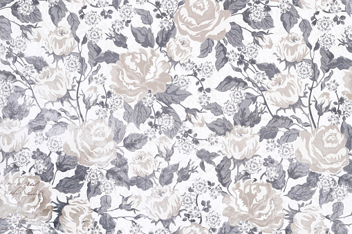Floral vintage seamless pattern, background wallpaper with pastel colored flowers