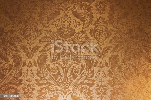istock Floral wallpaper backround 686198166