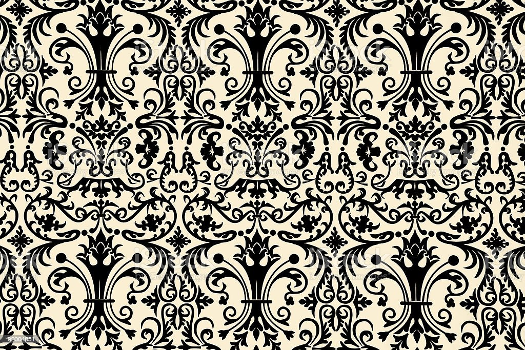 floral wallpaper design royalty-free stock photo