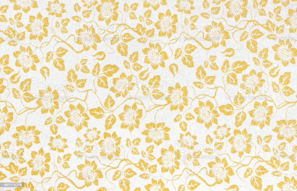 Floral Wallpaper Pattern Light Yellow Abstract Background ...