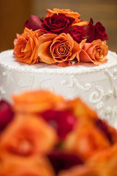 Floral Wedding Cake stock photo