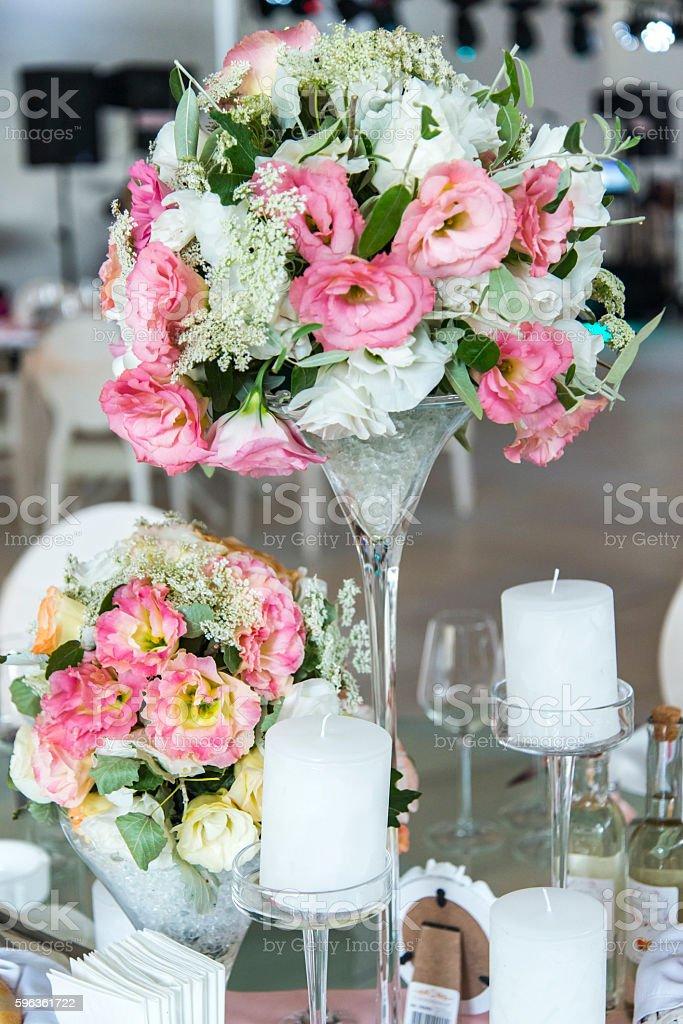 Floral wedding decoration royalty-free stock photo