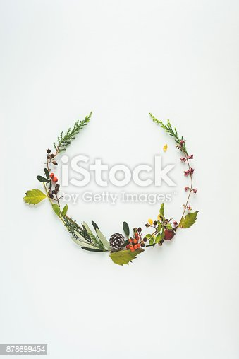 Floral wreaths of winter branches.