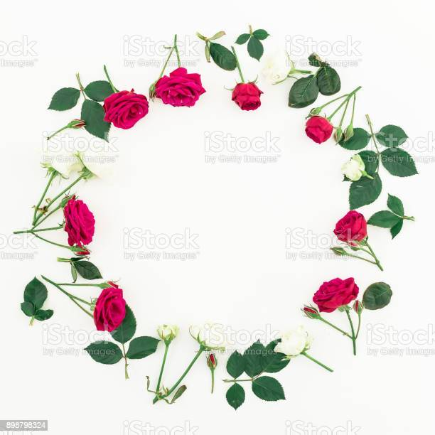 Floral wreath frame made of roses isolated on white background flat picture id898798324?b=1&k=6&m=898798324&s=612x612&h=wdm5kkrfxeaw3lsvpkpdjstsbtd7n jd4hwzklkglka=