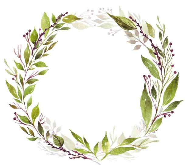 Blumenkranz in grün – Foto